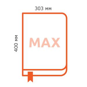максимальный размер блока книги